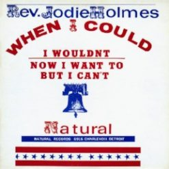Rev Jodie Holmes – when I could I wouldn't now I want to but I can't